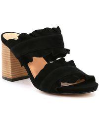 Free People Rosie Ruffle Block Heel Slides - Black
