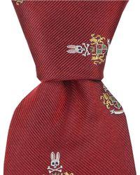 "Psycho Bunny - Bunny Crest Traditional 3.25"" Silk Tie - Lyst"