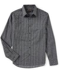Michael Kors - Slim-fit Houndstooth Long-sleeve Woven Shirt - Lyst