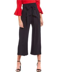 Sugarlips - Paperbag High Rise Tie Waist Culotte Pant - Lyst