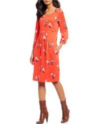 Joules - Alison Floral Print A-line Dress - Lyst