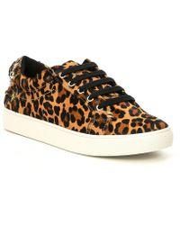 Kurt Geiger - Ludo Leopard Printed Sneakers - Lyst