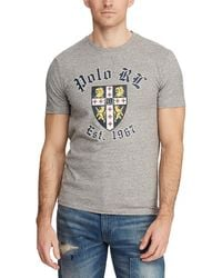99ff5725 Polo Ralph Lauren - Custom Slim-fit Heraldic Shield Short-sleeve Tee - Lyst