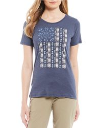 Columbia Show Your Flag Tee Top - Blue
