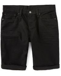 Levi's ® 511 Slim Fit 12 Inseam Cut Off Jean Shorts - Black