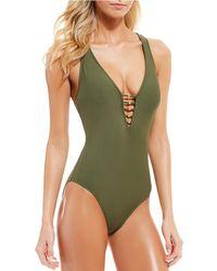 598349d165852 Lyst - Women s Antonio Melani Monokinis and one-piece swimsuits On Sale