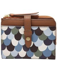 Fossil - Fiona Multifunction Bifold Wallet - Lyst