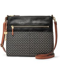 Fossil - Fiona Striped Large Cross-body Bag - Lyst
