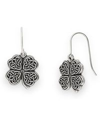 ALEX AND ANI - Four Leaf Clover Earrings - Lyst