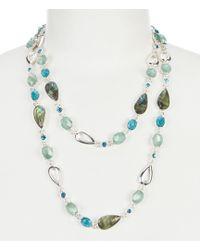 "Anne Klein - Abalone 42"" Necklace - Lyst"