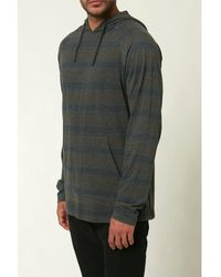 O'neill Sportswear Long-sleeve Meadow Pull-over Stripe Hoodie - Green