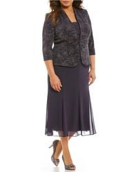 Alex Evenings - Plus Jacquard T-length Jacket Dress - Lyst