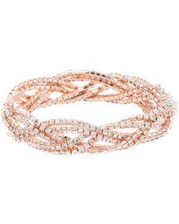 Cezanne - Braided Glitz Bracelet - Lyst