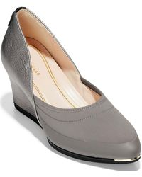 Cole Haan Grand Ambition Sport Wedge Pumps - Gray