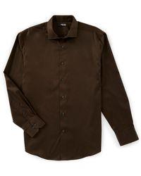 Murano - Liquid Luxury Solid Sateen Long-sleeve Woven Shirt - Lyst