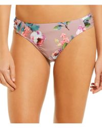 Gianni Bini - Fan Fav Romantic Rose Tab Side Bikini Swimsuit Bottom - Lyst