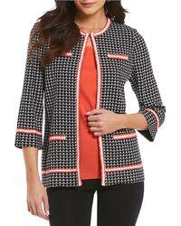 Misook - 3/4 Sleeve Textured Jacket - Lyst
