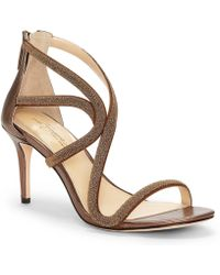 Vince Camuto - Imagine By Petara Bead Encrusted And Microsuede Dress Sandals - Lyst