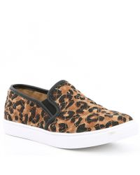 Steve Madden - Ecentrcq Leopard Quilted Slip-on Sneakers - Lyst