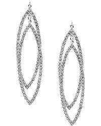 Cezanne - Drop Leaves Rhinestone Statement Earrings - Lyst