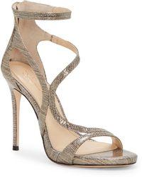 Vince Camuto - Imagine Demet Metallic Leather Dress Sandals - Lyst