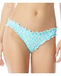 Coco Rave Blossom Ariel Ruffle Edge Bikini Bottom - Blue