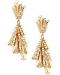 Belle By Badgley Mischka Abstract Prisms Earrings - Metallic
