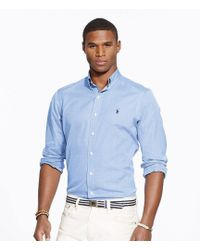 Polo Ralph Lauren | End-on-end Solid Poplin Shirt | Lyst
