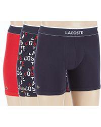 55bf40403e065 Lyst - Lacoste Men s Boxer Briefs 2-pack in Gray for Men