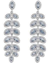 Swarovski Baron Pierced Earrings - Blue