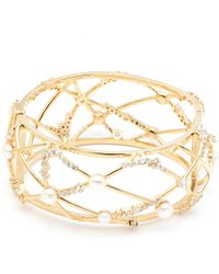Carolee - Avant-garde Caged Pearl Open Cuff - Lyst