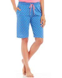 Karen Neuburger - Geometric-printed Bermuda Sleep Shorts - Lyst
