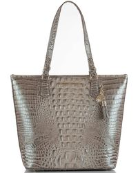 Brahmin - Melbourne Collection Crocodile-embossed Tasseled Asher Tote - Lyst
