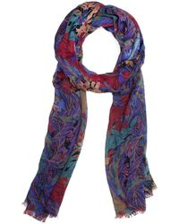 Patricia Nash Blue Forest Floral Collection Scarf