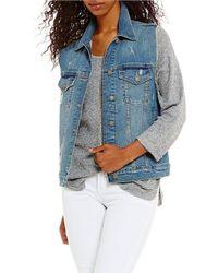 Silver Jeans Co. - Oversized Destructed Denim Vest - Lyst
