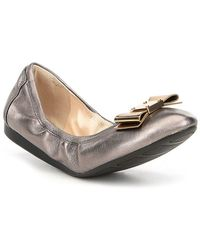 Cole Haan - Tali Bow Detail Leather Ballet Flats - Lyst