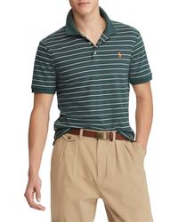 Polo Ralph Lauren - Custom-slim Fit Stripe Jersey Short-sleeve Polo Shirt - Lyst
