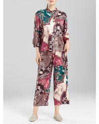 N By Natori - Floral Medallion Printed Satin Pajamas - Lyst