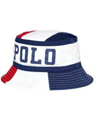 7c8a440f73cc0 Lyst - Polo Ralph Lauren Loft Twill Bucket Hat in White for Men