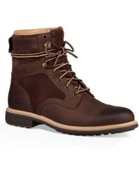 UGG - Men's Magnusson Leather And Suede Boots - Lyst