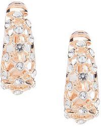 Anne Klein - Open Work Clip Earrings - Lyst