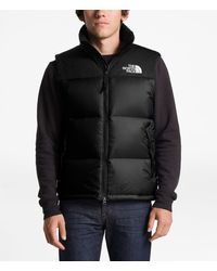 The North Face 1996 Retro Solid Nupste Insulated Puffer Down Vest - Black