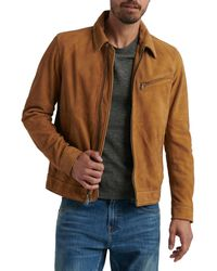 Lucky Brand Suede Riding Jacket - Brown