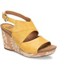 Söfft - Corrina Leather Wedge Sandals - Lyst