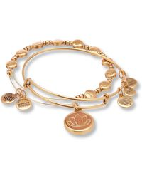 ALEX AND ANI - Lotus Wood Set Of Two Bangle Bracelets - Lyst