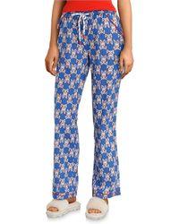 Psycho Bunny Printed Woven Sleep Pants - Blue
