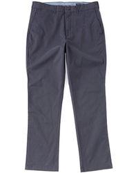 Cremieux Madison Flat-front Twill Comfort Stretch Chino Pants - Blue