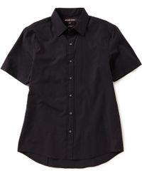 Michael Kors - Slim-fit Solid Stretch Short-sleeve Woven Shirt - Lyst
