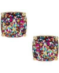 Kate Spade - Glitter Stud Earrings - Lyst