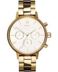 MVMT Nova Collection Solis Goldtone Multifunction Bracelet Watch - Metallic